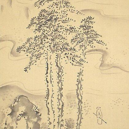 fukuda kodojin landscape painting view-1