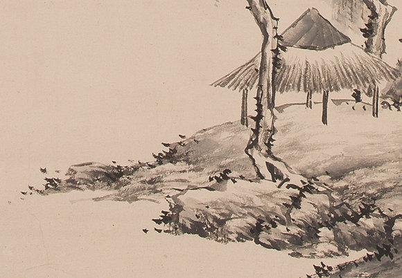hine taizan nanga landscape painting