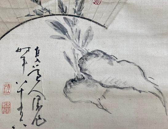 tanomura chokunyu tani buncho fan painting view-1