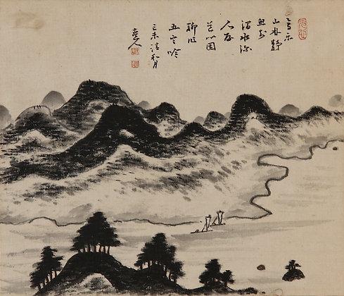 Fukuda Kodojin painting literati nanga