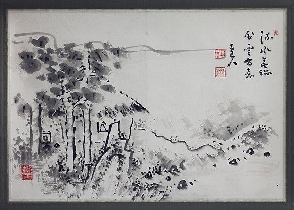 Fukuda Kodojin Landscape nanga painting