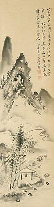 Fukuda Kodojin landscape painting literati nanga detail