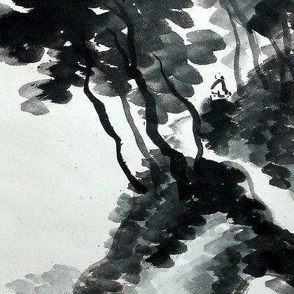 hine taizan landscape nanga literati painting