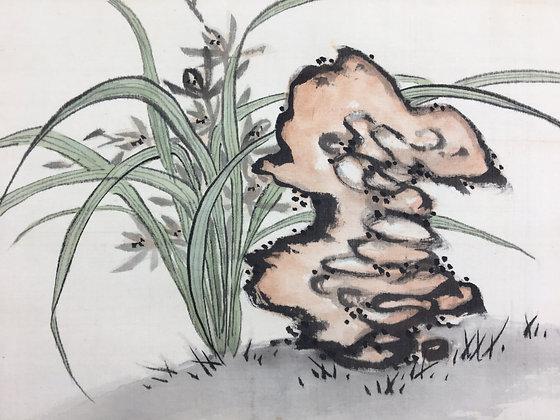 fukuda kodojin painting iris rock view-2