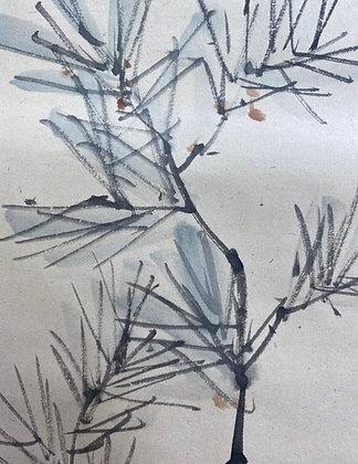 otagaki rengetsu pine poem painting view-5