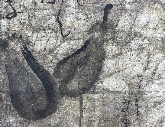 otagaki rengetsu poem painting view-3