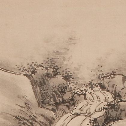 nakabayashi chikuto painting waterfall literati nanga