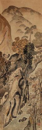 Tomita Keisen Landscape nanga literati painting view-2