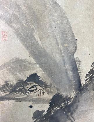 otagaki rengetsu painting scroll poem