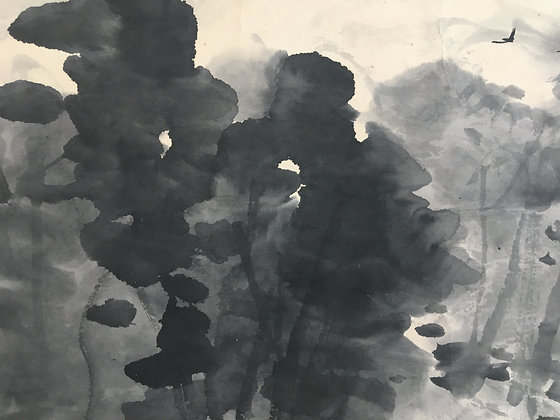 okuhara seiko nanga landscape painting