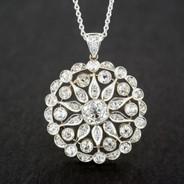 Edwardian Diamond Pendant