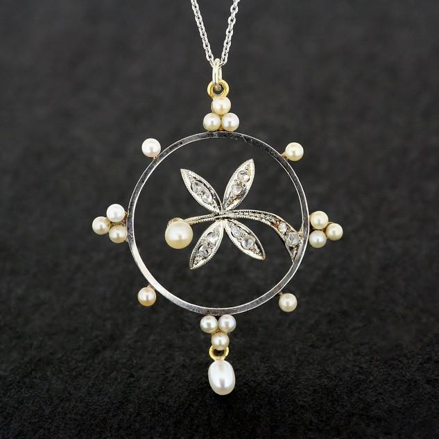 Edwardian Pearl Pendant