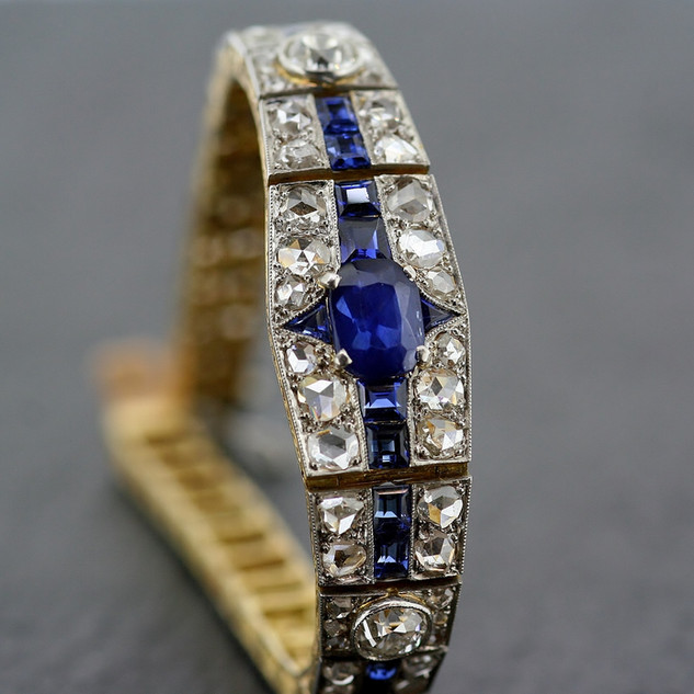 Art Deco Sapphire & Diamond Bracelet