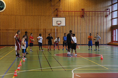 Basketball skills clinic, Switzerland