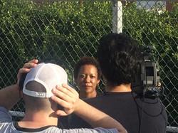 LaQuita Thompson and Camera Crew