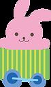 ピンクのうさぎさんのイラスト