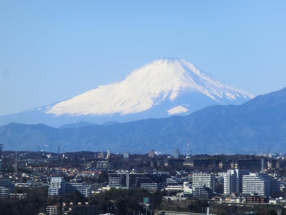 横浜市から見える富士山