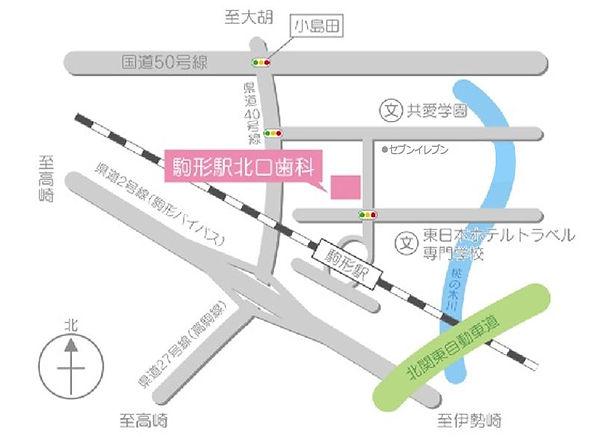 駒形駅北口歯科の地図