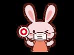 マスクをしたウサギのイラスト