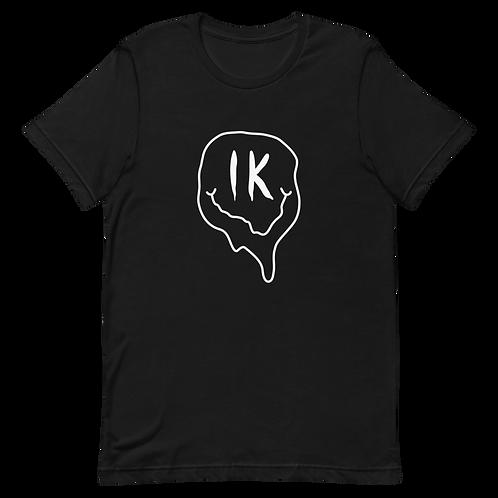 Black Outline Smiley Short-Sleeve Unisex T-Shirt
