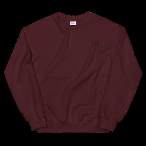 Brown Outline Smiley Unisex Sweatshirt