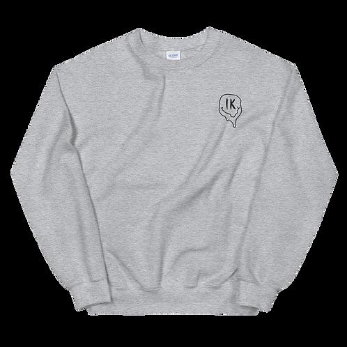 Grey Outline Smiley Unisex Sweatshirt