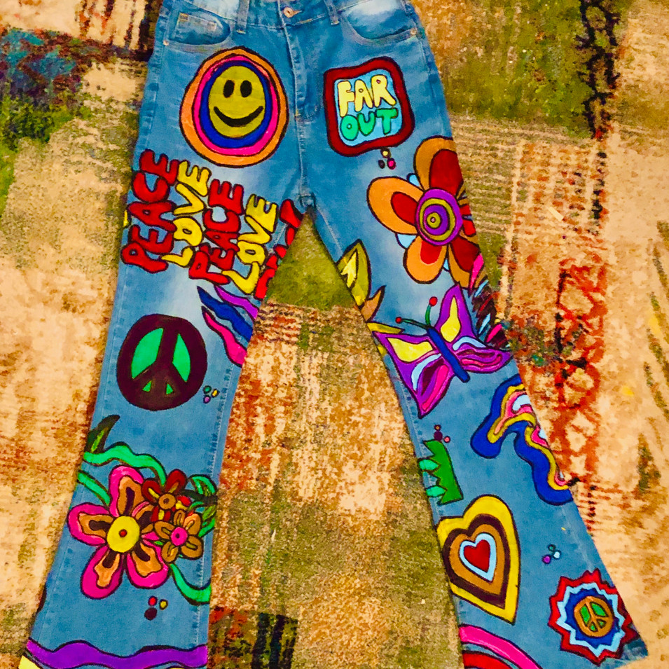 (front) painted hippy jeans for mom