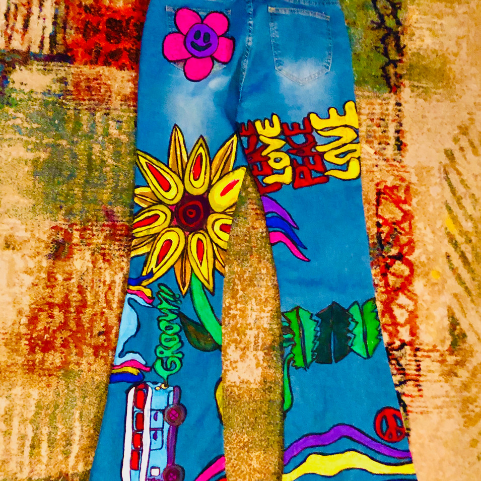 (back) painted hippy jeans for mom