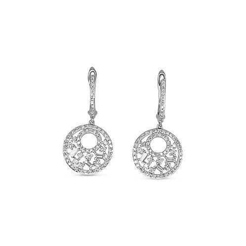 Diamond Open Disc Earrings