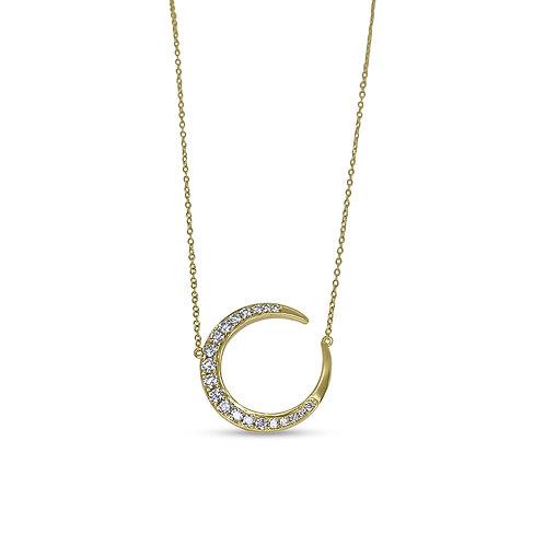 Diamond Half Moon Necklace