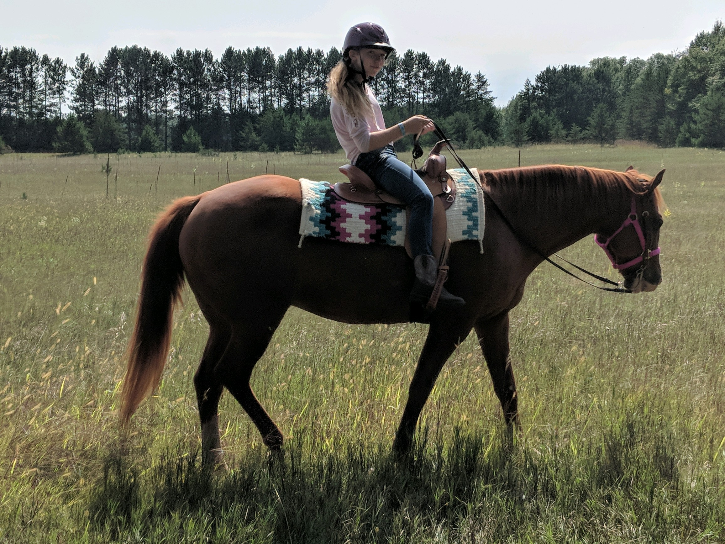 loves to ride