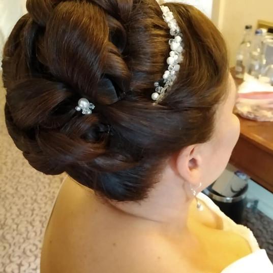 Bridal hair - decorative bun
