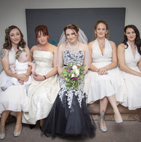 Megan and her bridal party