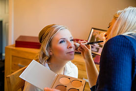 Bride Lucy being pampered