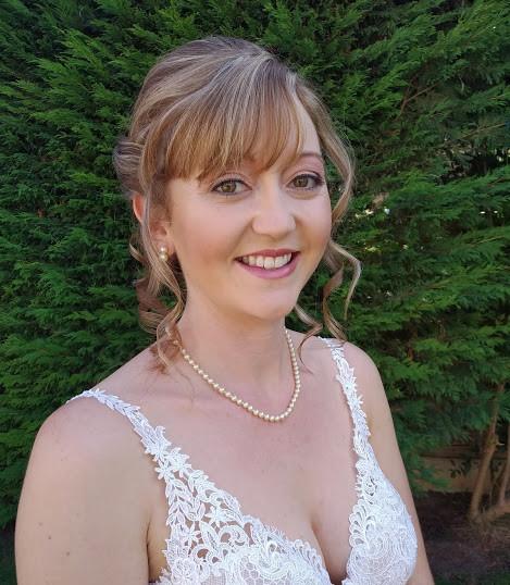 Beautiful bride Natalie's hair & make up