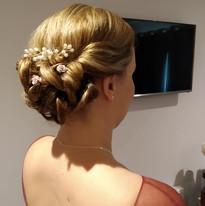 Bridesmaid's hair up