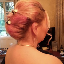 Bridal hair with some colour!