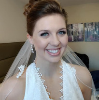 Beautiful bridal make up for Amy