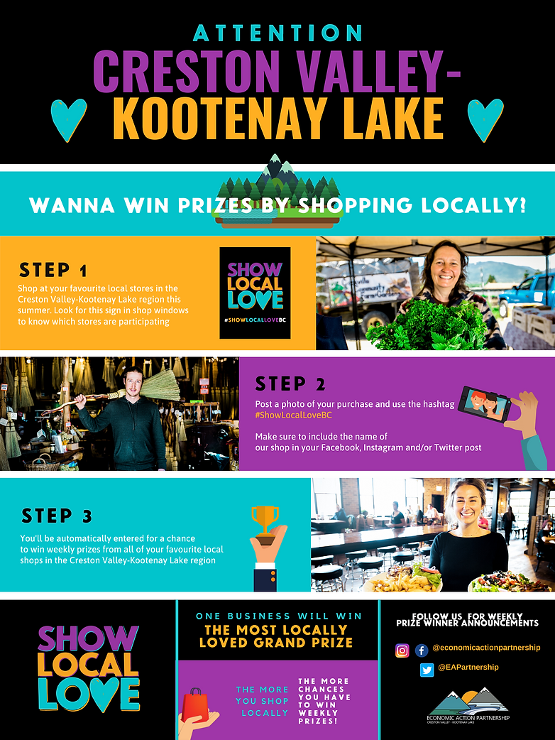 Show Local Love Infographic For EAP Webs