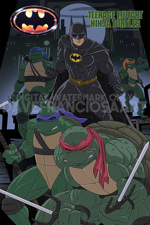 "Dark Knight Ninja Bros (6.75"" x 10.25"")"