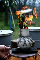 Alternative firing workshop(horse hair raku)