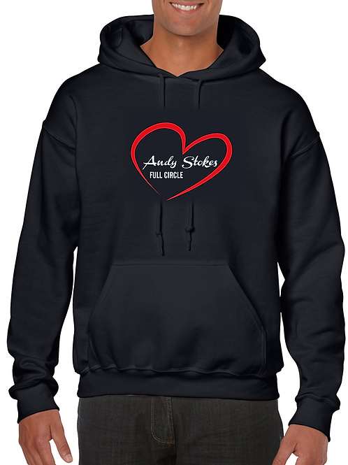 Hoodie with Andy Stokes Heart and Full Circle Logo