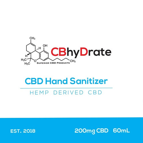CBD 200mg hand sanitizer (hydrate your skin)