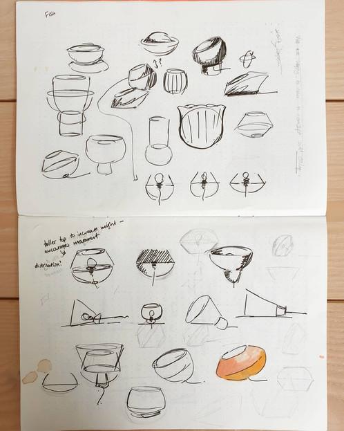 found sketch work