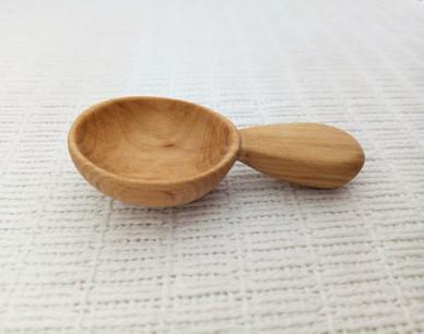 Carved sugar spoon