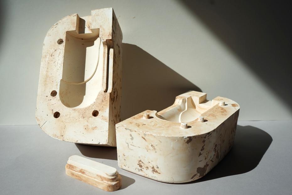 machined plaster mould set