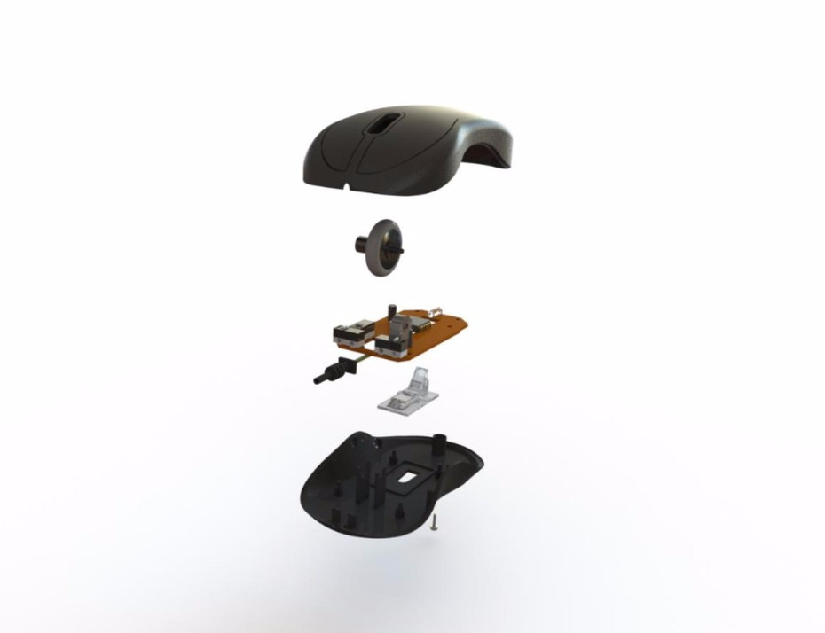 Exploded view mouse