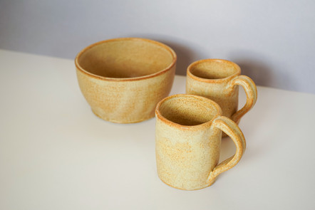 first attempt at making mugs