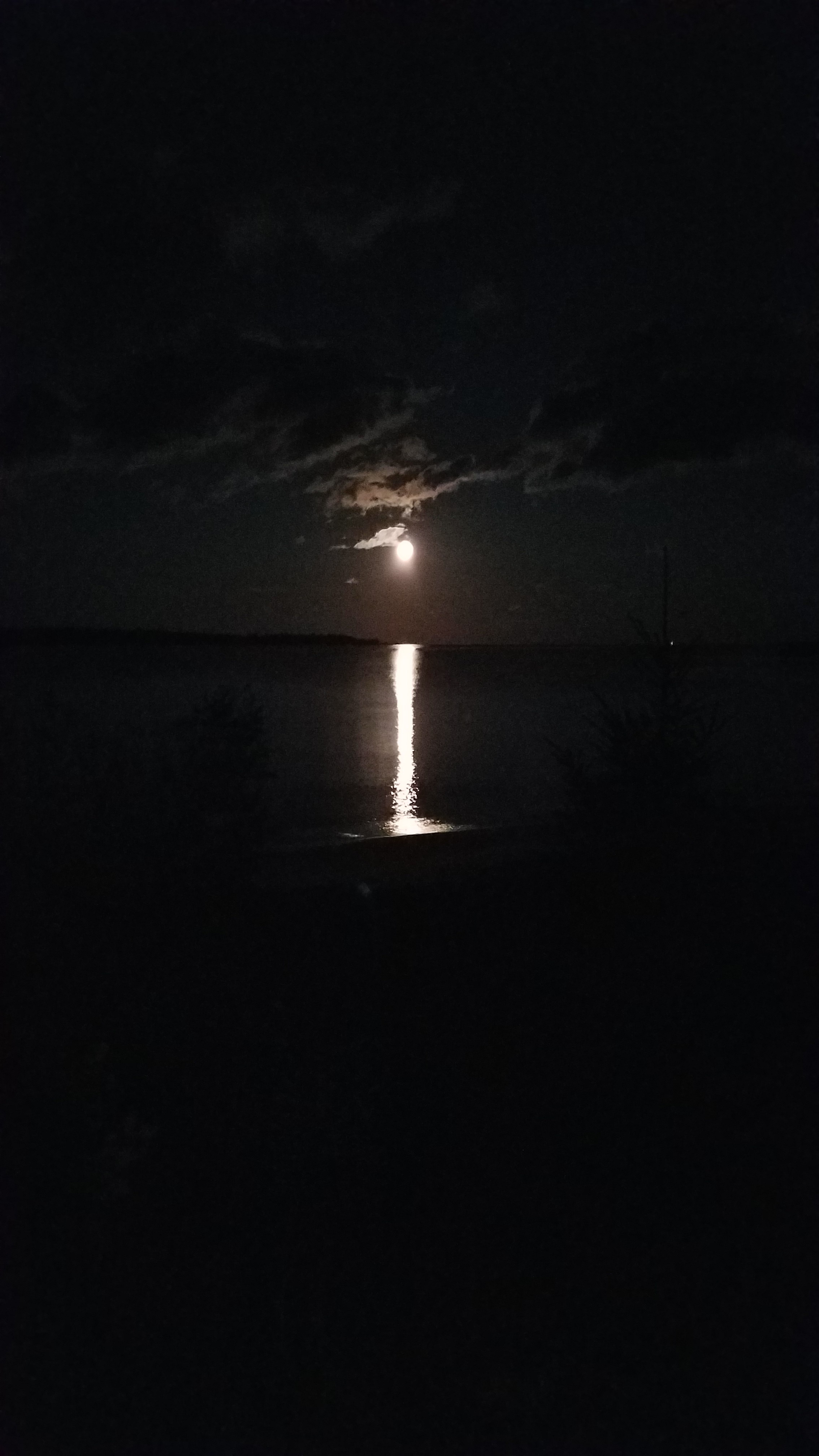 Moon River Over Bell Bay