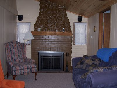 Lake View Unit Fireplace